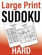 Large Print Sudoku Hard 105 Puzzles For Adults With One Puzzle P... By Funlogix