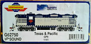 Ho Scale Athearn Genesis Gp9 Texas And Pacific Tandp 1141 Dcc And Sound G62750