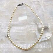 Mikimoto Pearl Necklace Mm Beads Sv