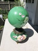 Antique Bradley And Hubbard Kerosene Gone With The Wind Banquet Lamp Hand Painted