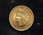 Hsandc 1907 Indian Head Penny/cent Bu Red - Us Coin