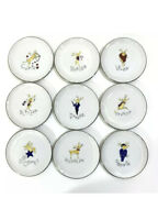 Pottery Barn Set Of 9 Complete Reindeer Coasters New In Box