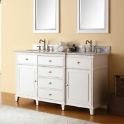 Avanity Windsor 61-inch Double Vanity In White With Dual