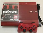 Sony Playstation 3 Super Slim Limited Red Ps3 500gb Cech-4001c Version 4.81