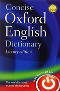 Concise Oxford English Dictionary Luxury Edition By Oxford Dictionaries Book