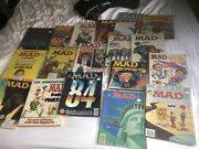 Vintage Mad Magazine Lot Of 18 Books And Magazines Collectible Rare