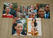 Lucy Liu Hand Signed Autographed 10x8 Inch Photo + Four Photo Proofs