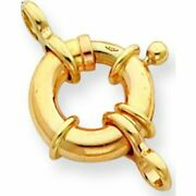 14k Gold Spring Ring Clasp 27.5mm