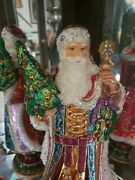 Jay Strongwater Christmas Ornament Tree Topper Santa Extremely Rare