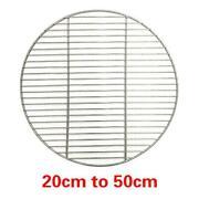 Round Bbq Grill Stainless Steel Mesh Roast Iron Nets Bacon Barbecue Tool Sets