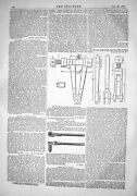 Antique Old Print 1867 Cutting Stay Bolts Locomotives Instruments Engineering