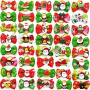 300pc Christmas Dog Hair Bows Small Dog Grooming Bows Dog Accessories New