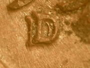 1956-d Rpm 1 D/d West Fs-501 Nice Fi/vf Brown Lincoln Wheat Penny Centerror1