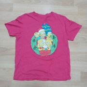 The Simpsons Family Wreath Rustic Christmas Mens Vintage T-shirt Large