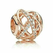 New Authentic Pandora Rose Gold Plated Galaxy Openwork Charm 781388cz