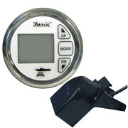 Faria Chesapeake White Ss 2 Depth Sounder W/ Air And Water