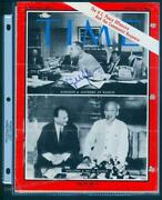 Usa 1966 Pres Lyndon Johnson Autographed Time Mag Peace Offensive Vietnam 93157