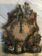 Danbury Mint Boyds Bear Collector Clock Time Waits For No Bear Never Out Of Box
