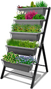 4ft Vertical Raised Garden Bed - 5 Tier Food Safe Planter Box For Outdoor And In