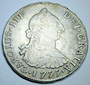 1777 Spanish Bolivia Silver 4 Reales Genuine Antique 1700and039s Colonial Pirate Coin