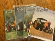 4 Vintage Antique Power Tractor Collector Magazines 1993 With Mailing Sleeves