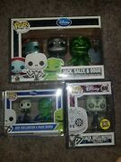 D23 Nightmare Before Christmas 3 Pack Le 500 W/ Autographed 2 Pack And Dotd Jack