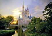 Disney World Cinderella Castle At Dawn Painting Stylematerial Wallpaper Poster