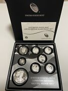 2017 -s Us Mint Limited Edition Silver Proof Set 17 Rc With Coa And Boxes