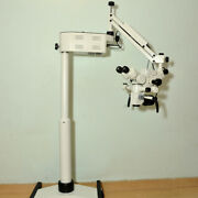 5 Step Dental Wall Mount Microscope - Accessories And Led Monitor - Manual - New