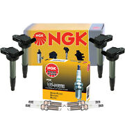 Ngk 4 Ignition Coils And 4 Gpower Platinum Spark Plugs Kit For Lexus Toyota 1.8 L4