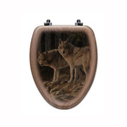 Shades Of Grey Elongated Closed Front Wood Toilet Seat In Oak Brown