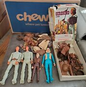 Vintage 60and039s Geronimo Jane And Jay West All Accessories Rare Marx Figures Johnny