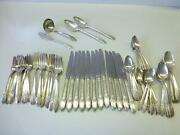 76 Piece First Love 1847 Rogers Bros Silverplate Flatware Service For 12+