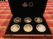 2015 Big 6 Coin Series, 99.99 Silver With Gold Plating, Mint Coa's, Case Jr37
