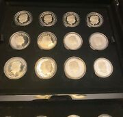 Rare 2014 Royal Mint Princess To Monarch Complete 24 Coin Set In Case Jr21