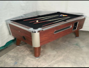 6 1/2and039 Valley Commercial Coin-op Pool Table Model Zd-4 New Black Cloth