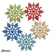 Spencer 4 Inch Pack Of 36 White Glitter Snowflake Christmas Ornaments Xmas Tree
