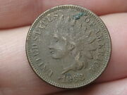 1868 Indian Head Cent Penny- Vf/xf Details