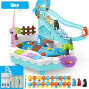 Kids Fishing Game Toys With Slideway Sound Electronic Magnetic Fishing Toy S
