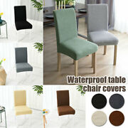 Dining Chair Cover Washable High Back Chair Cover For Room Decoration-0
