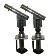 Lees Sw9300 Sidewinder Bolt-in Outrigger Mounts Lay-down Version - Silverpair