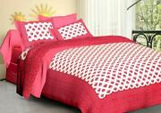 Home Bedsheet 100 Cotton Febric 400 Tc Washable With Discounted Price Pink