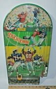 Vintage Football Touchdown Tabletop Pinball Game Made By Wolverine 1960and039s