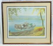 The Millersburg Ferry 1965 Numbered 519/975 And Signed By Artist Ned Smith Framed