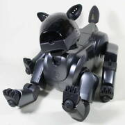 Sony Aibo Ers-210 Black Battery Recelled Maintained Dog-st-shaped Robot