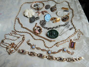 Vintage And Antique Jewelry Sterling Gold Filled Victorian Art Deco Photos Glass