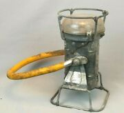 Vintage Justrite Manufacturing Company Permissible Electric Mining Lantern