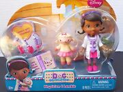 Disney Doc Mcstuffins Physician Lambie Gets Checkup Doll Doctor Thermometer New