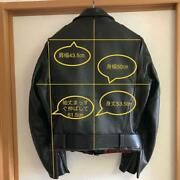 The Real Mccoy's X Harley Davidson Rider's Jacket Horsehide Size 40