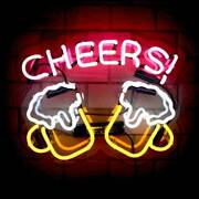 Chees Glass Neon Signs Lights Beer Bar Club Office Cafe Wall Decor 14.5 X 12